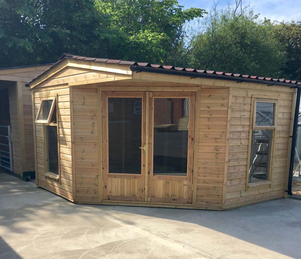 Heavy Duty Corner Summerhouse